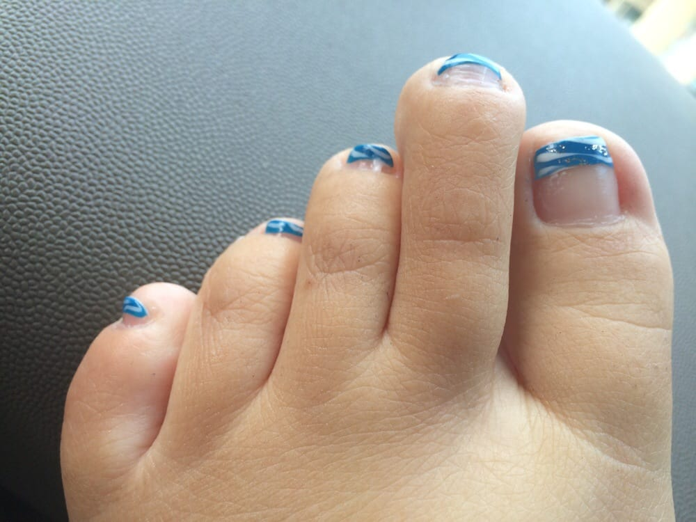 Excellent pedicure with French tip and design for only $23.. - Yelp