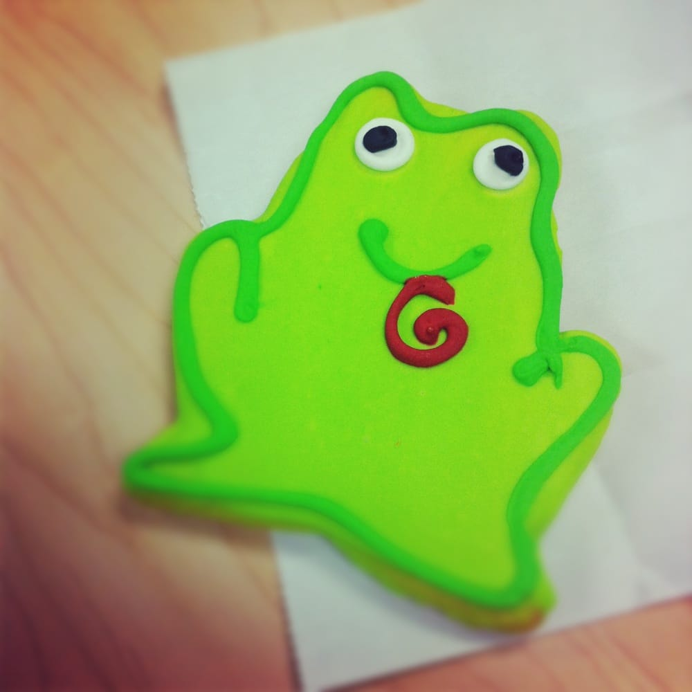 Amazing Frog: Amazing Frog Cookie From The Bakery.