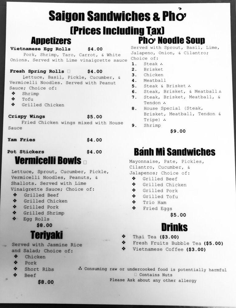 Saigon Sandwiches & Pho