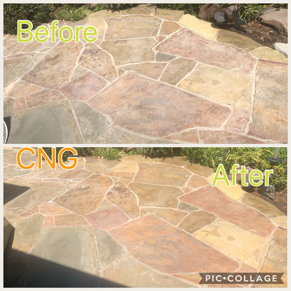 Photo of Calebu0027s New Grout - San Jose CA United States. Patio clean & Patio clean service with power washer and seal. Glossy sealer - Yelp