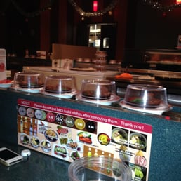 East Japanese Restaurant - West Nyack, NY, United States. Look before you pick that black plate up!