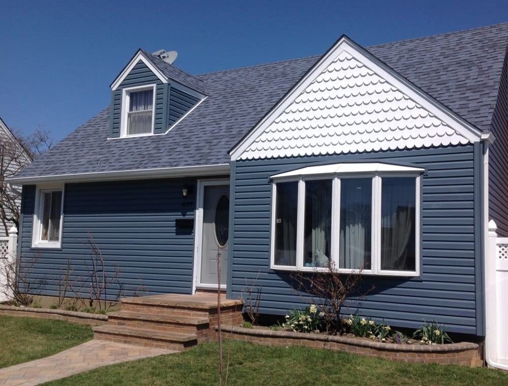 Blue Siding With White Scallop Trim Yelp