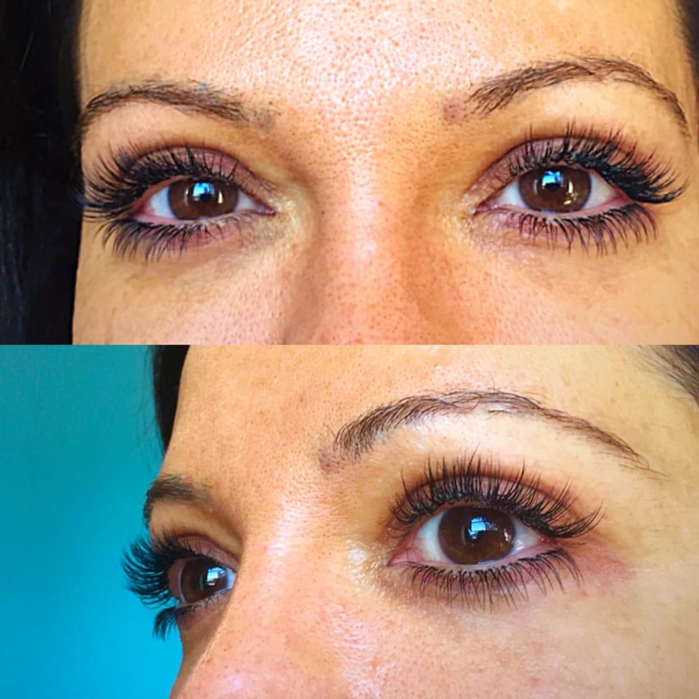 Top And Bottom Eyelash Extensions Almond Eyes Kim K Lashes Silk