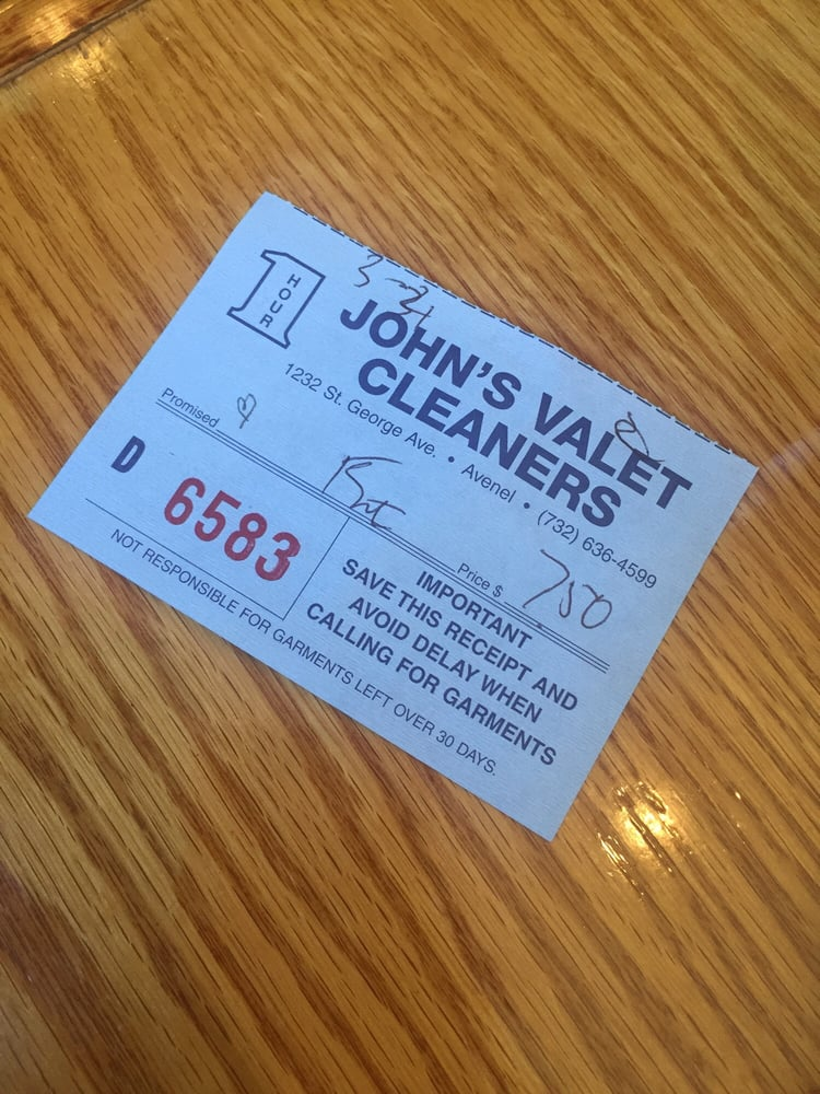 John's Valet Dry Cleaners: 1232 Saint Georges Ave, Avenel, NJ
