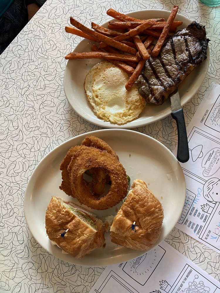 Food from Howley's Restaurant
