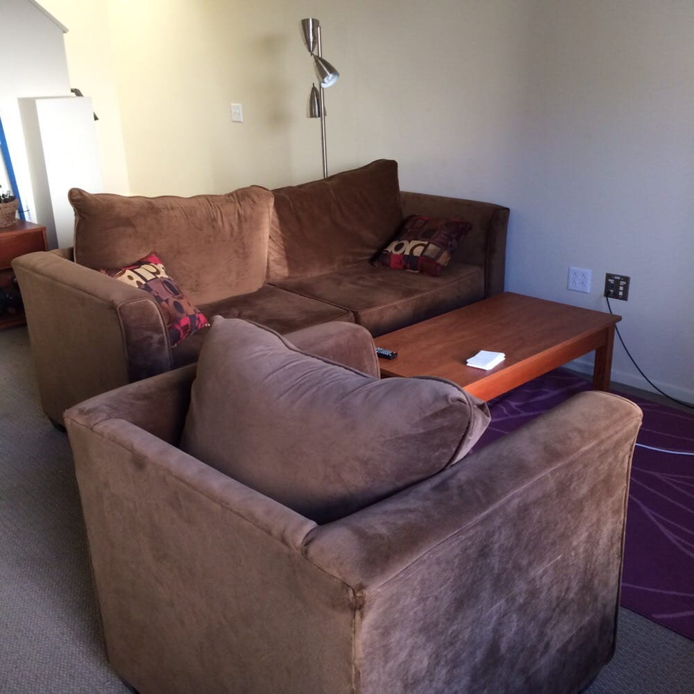 Living Room In A 2-story Townhouse (you Can See The Stairs
