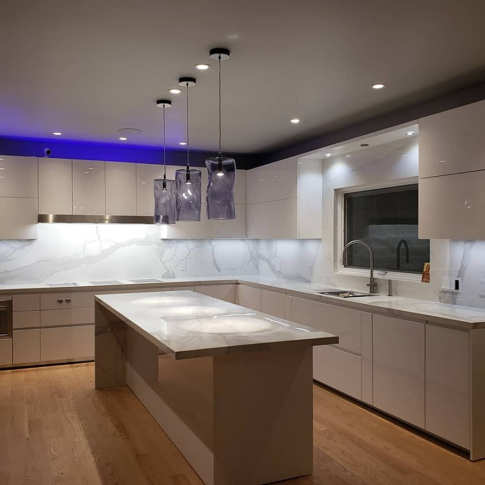 Porcelain countertops with backsplash - Yelp