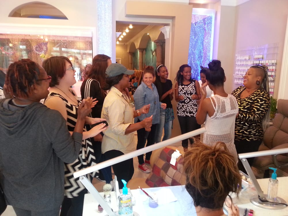 A very happy Birthday Party of 20 guests at Atlantis Nail Salon ...