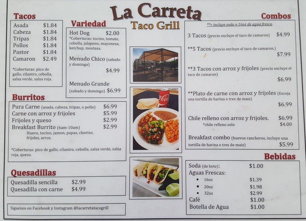 La Carreta Taco grill: 5740 W Buckeye Rd, Phoenix, AZ