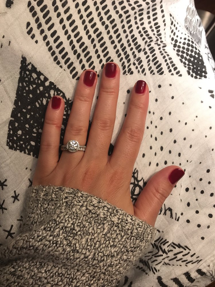 Shellac manicure. Nails are ready for fall! - Yelp
