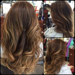Back to brunette brown full color w ash blonde balayage for 3 brunettes and a blonde salon