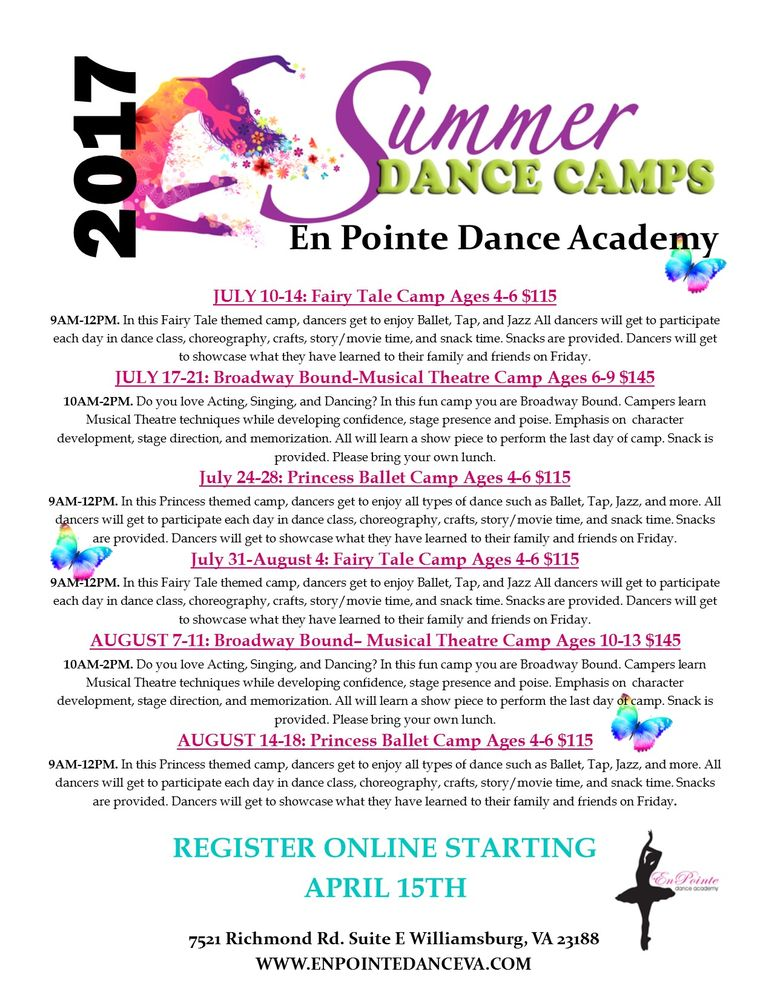 En Pointe Dance Academy: 7521 Richmond Rd, Williamsburg, VA