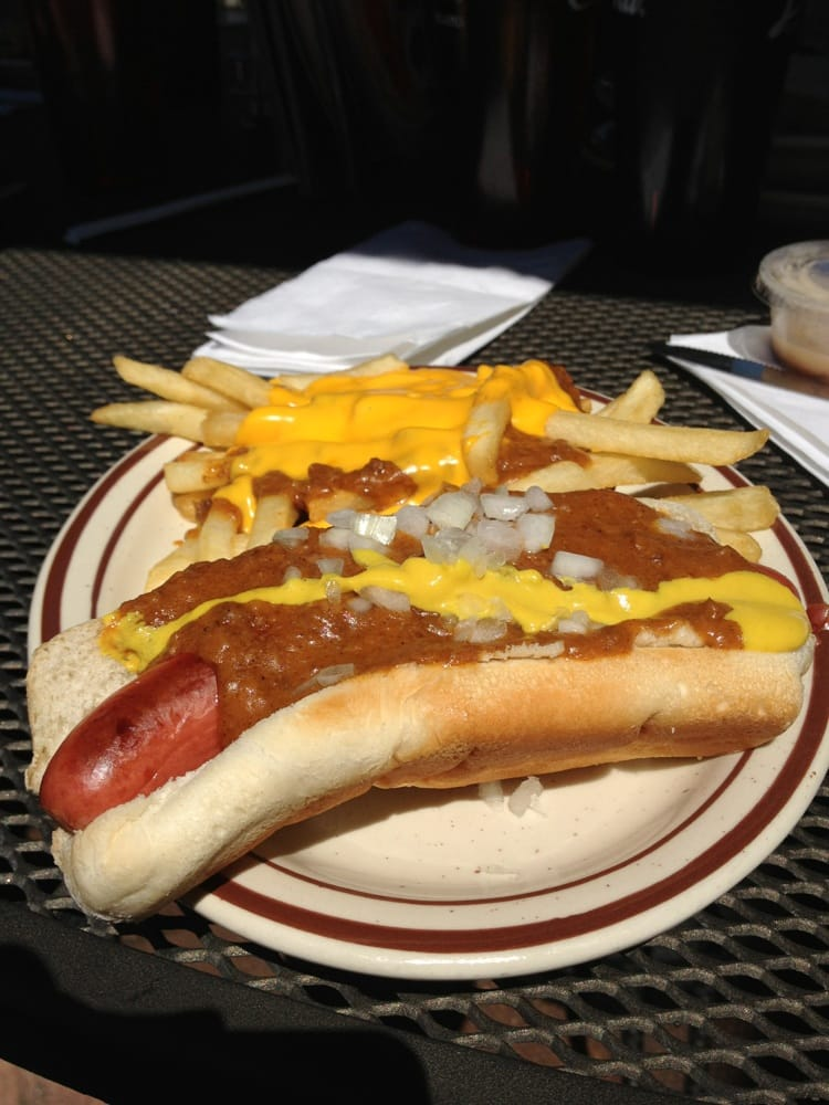 Coney Island Hotdog With Chili Cheese Fries Yelp