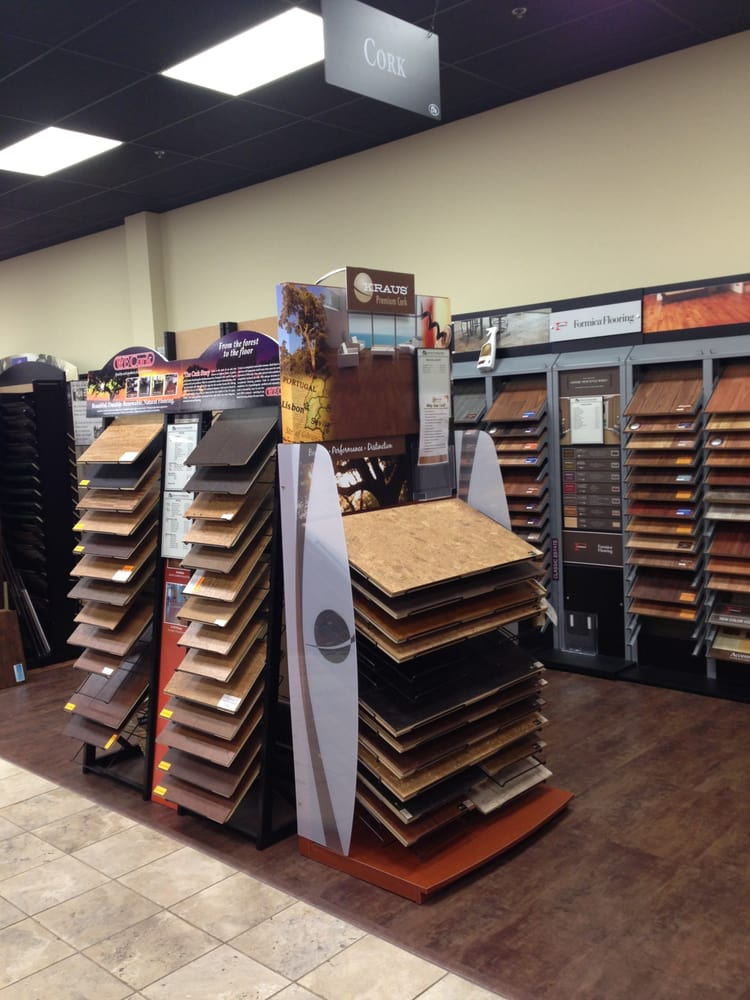 Cork and laminate flooring displays at cfm tigard or yelp for Laminate flooring displays