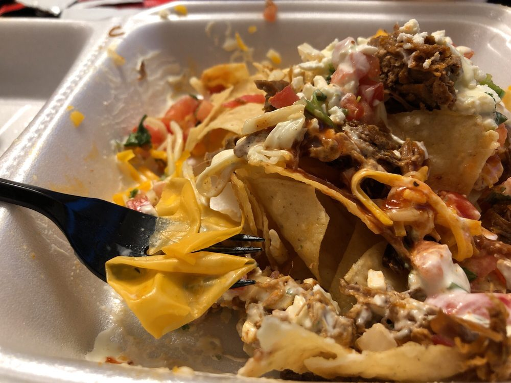 Food from Fuzzy's Taco Shop