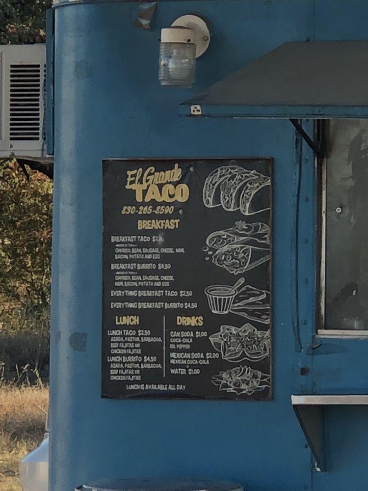 El Grande Taco: 2642 Farm To Market Rd 1431, Kingsland, TX
