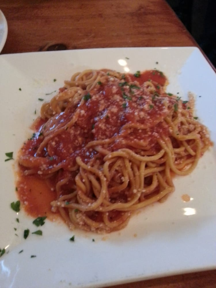 Sweet Tomato Based Pasta That Comes With The Veal Cutlet