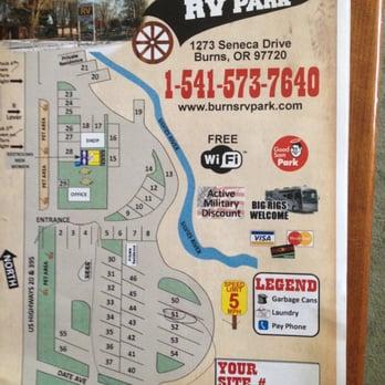 Burns Rv Park Reviews Campgrounds Seneca Dr Burns - Map of oregon rv parks