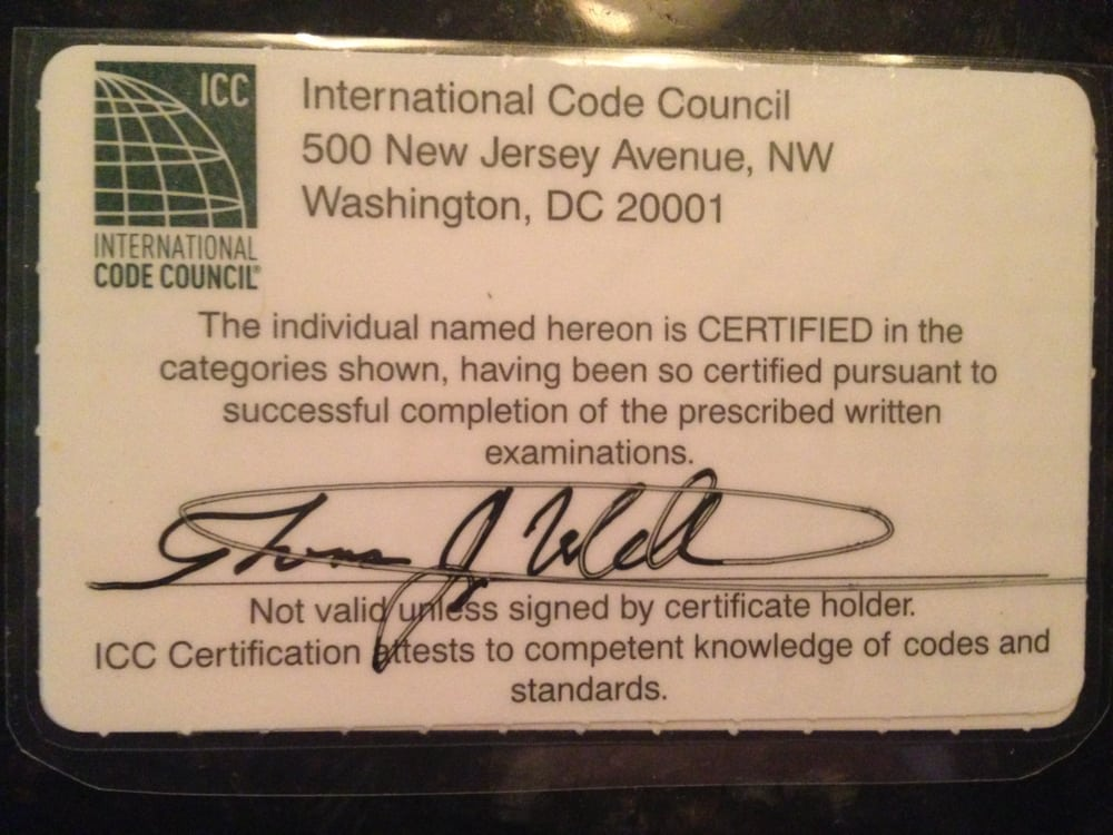 Commercial Electrical inspector International Code Council ...
