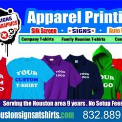 Houston signs n tshirts cerrado r tulos y letreros for Custom t shirts houston