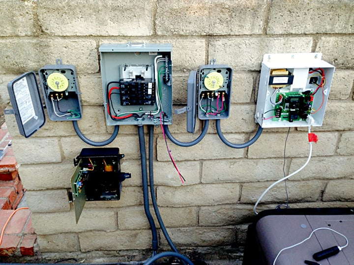 Pool Equipment Sub Panel Saltwater Pool Equipment With