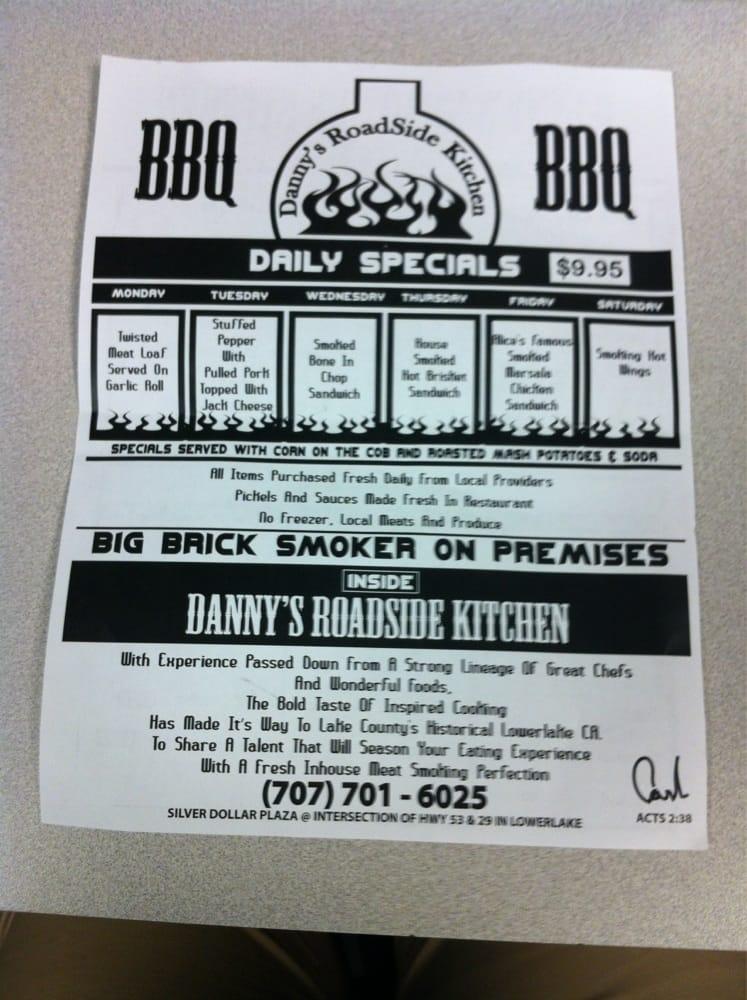 Danny S Roadside Kitchen Menu