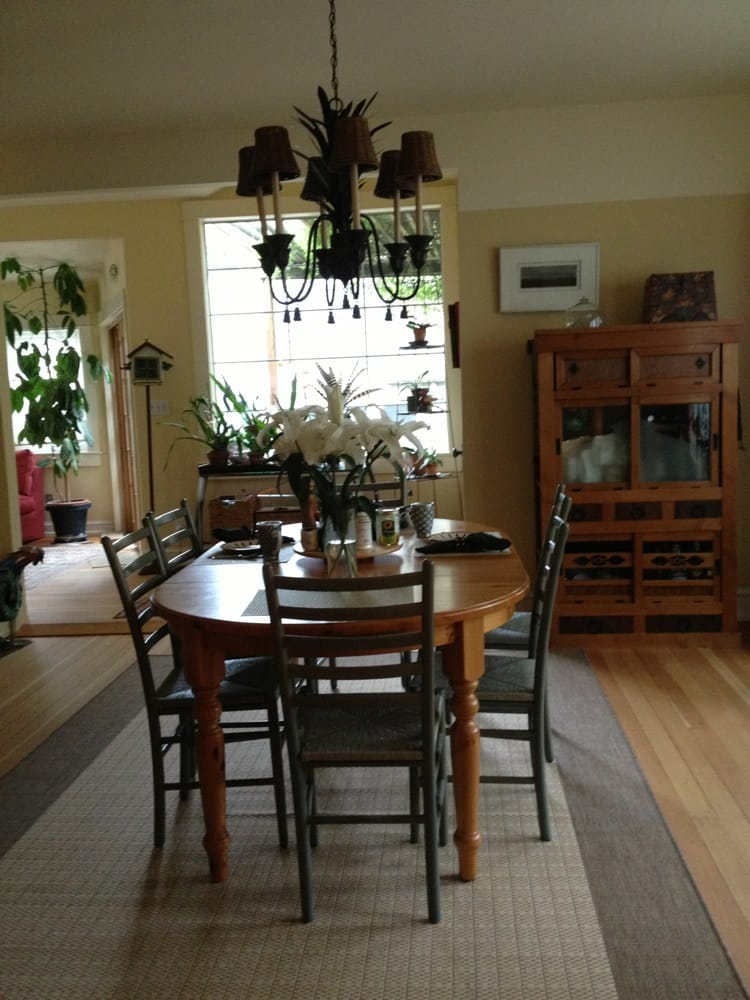 Cute dining room lots of light and plants yelp for Cute dining rooms