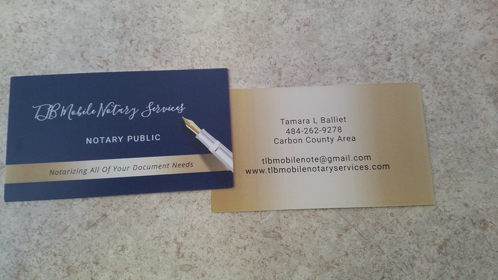 TLB Mobile Notary Services: Albrightsville, PA