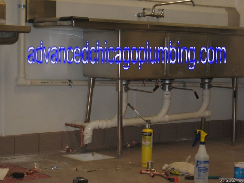 Photo Of Advanced Chicago Plumbing Il United States Commercial Triple Basins