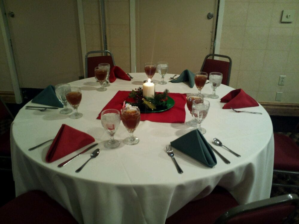 Banquet table set up. - Yelp