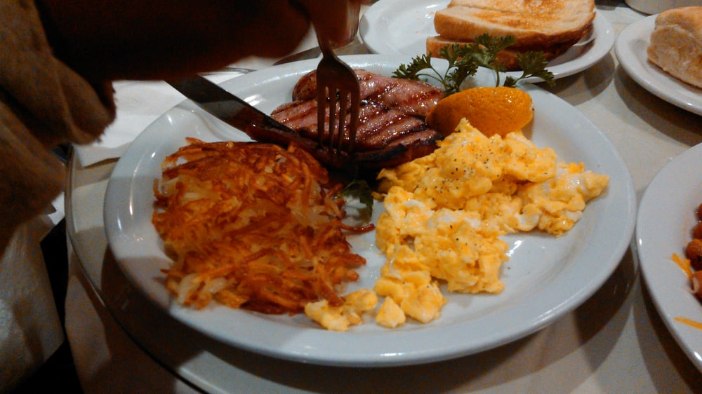 Photo of Ed's Place - Glendora, CA, United States. Two eggs breakfast with polish link sausage