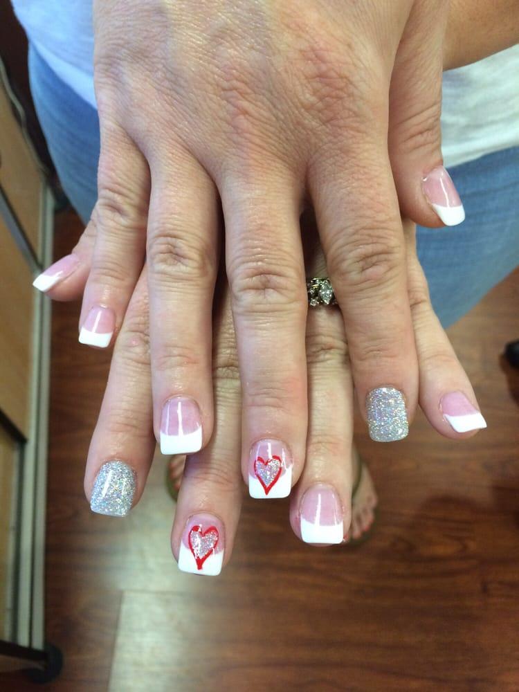 SNS Pink & White - organic dipping powder! With designs:) - Yelp