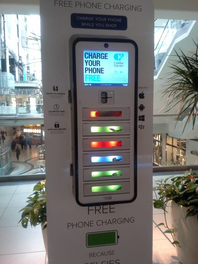 A phone charging station at the mall. What a good idea! - Yelp