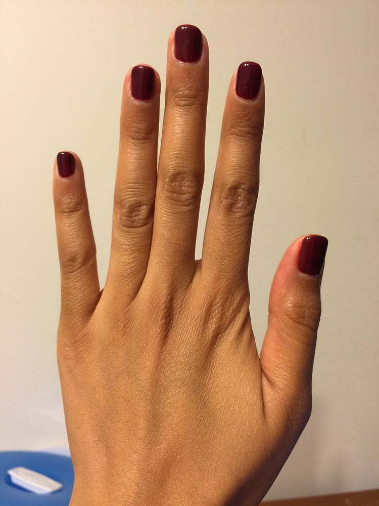 Gel manicure from euro nail spa. Love the shaping - Yelp