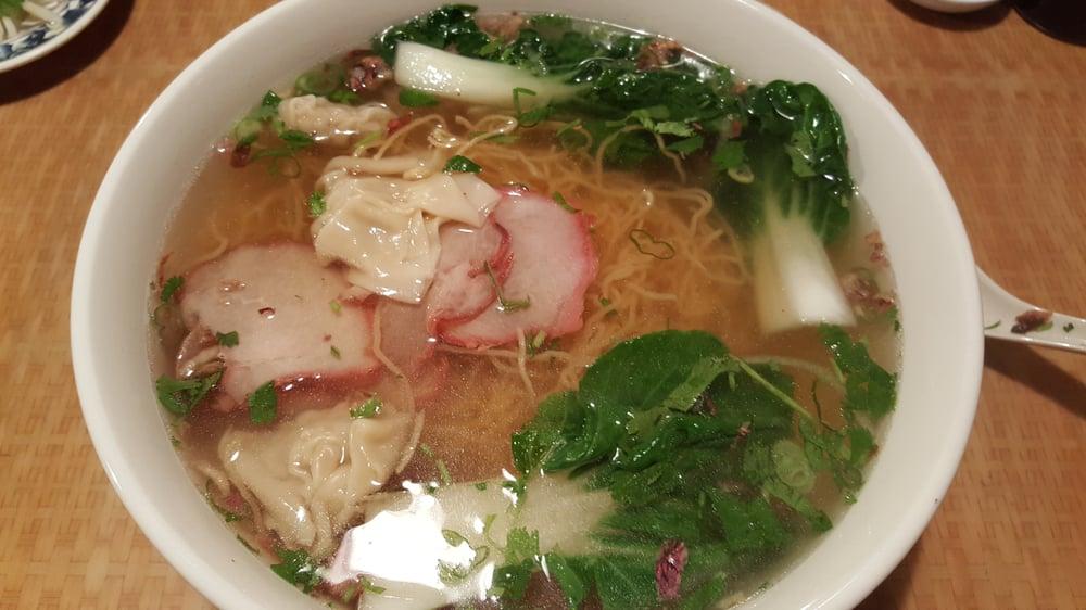 bbq pork wonton egg noodle soup bbq porl slices tasted