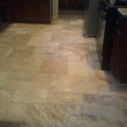 Photo Of Custom Stone Tile   Mission, KS, United States. Travertine Kitchen  Floor