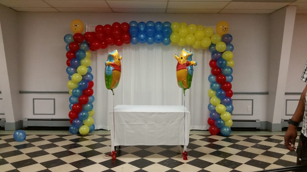 Balloon Arch For A Baby Shower Winnie The Pooh Themed Yelp