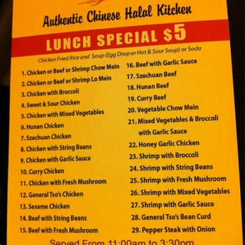 Halal Chinese Food Woodside