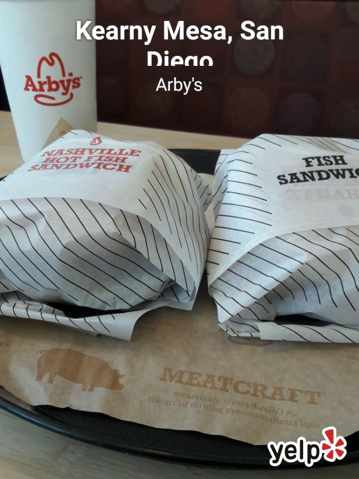quality fish sandwiches at arbys 2 for 5 bucks yelp