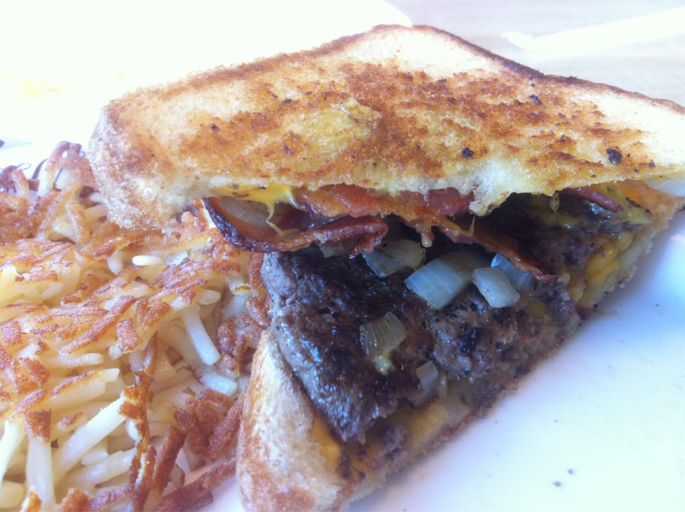 Texas Bacon Angus Patty Melt Damn Good Yelp