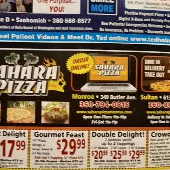 Sahara pizza coupons