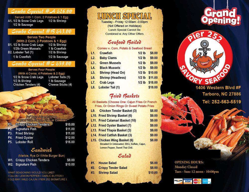 Savory Seafood: 1406 Western Blvd, Tarboro, NC