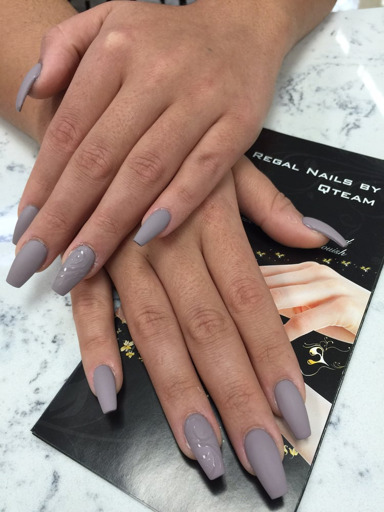 Matte OPI #49 with clear Design - Yelp
