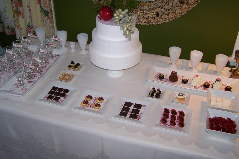 Dessert Table set up for a Bridal Shower. - Yelp