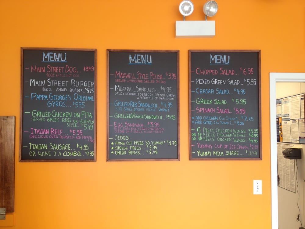 Menu Boards Yelp