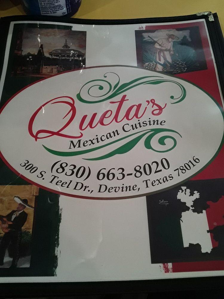Queta's Mexican Cuisine: 300 S Teel Dr, Devine, TX