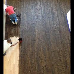 Photo Of Hardwood Creations   Houston, TX, United States. Engineered Wood  Floor Refinished