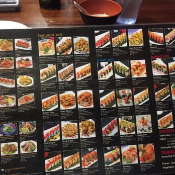 Dono Sushi Cafe Menu