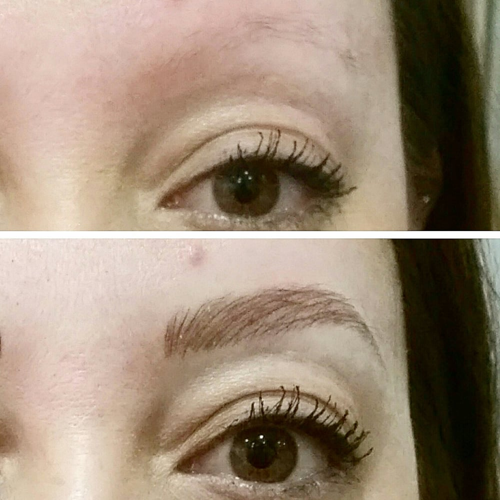 Microblading Hd Eyebrow Tattoo By Leyen Before And Immediately