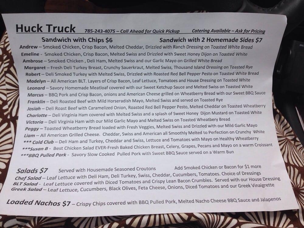 Lois' Huck Truck: 1776 US-81, Concordia, KS